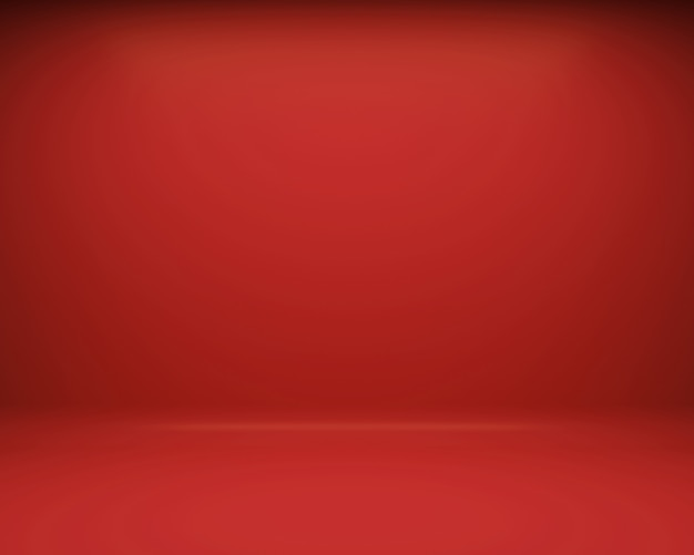 Red floor and wall background. 3d rendering