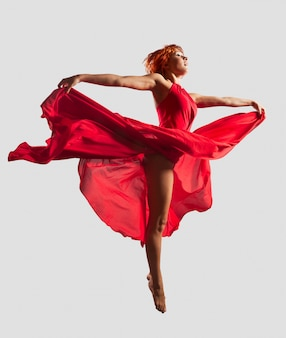 Red flying dancer