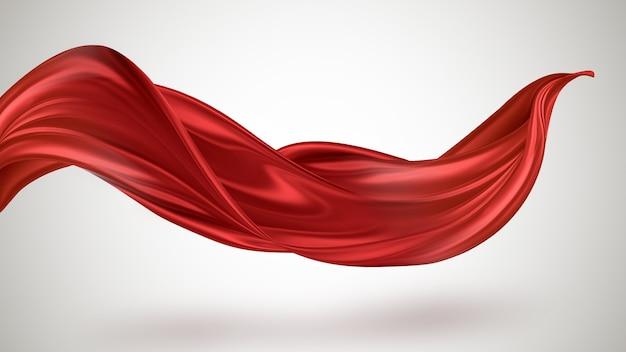 Красная летающая ткань красивый абстрактный фон