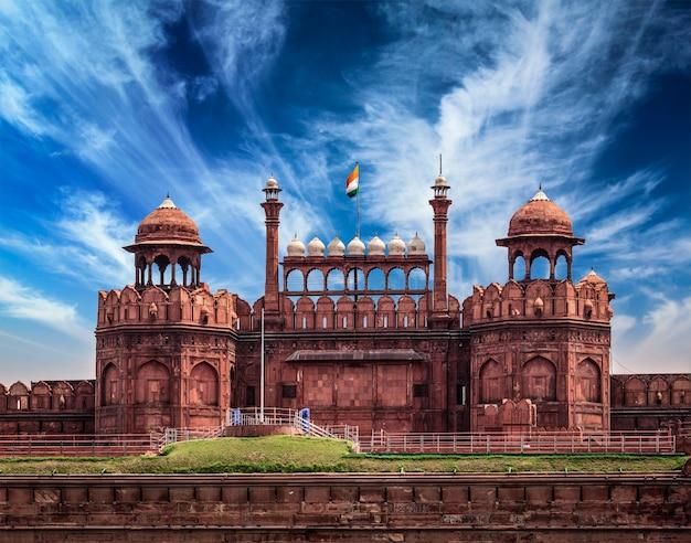 Red fort lal qila. delhi, india