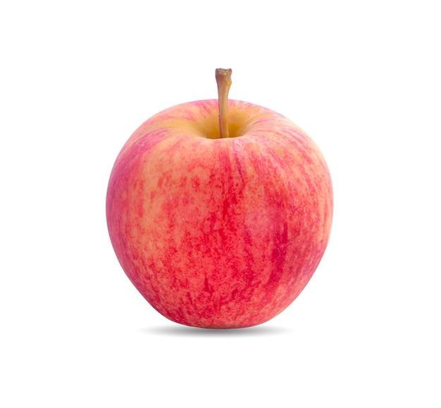 白で分離された赤い新鮮なリンゴ