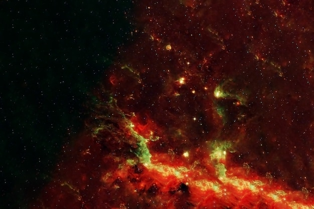 Red galaxy in deep space. elements of this image furnished by nasa. high quality photo