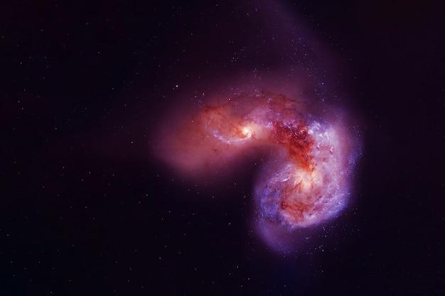Красная галактика в глубоком космосе элементы этого изображения предоставлены наса.