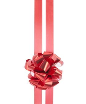 Красный подарочный бант и ленты