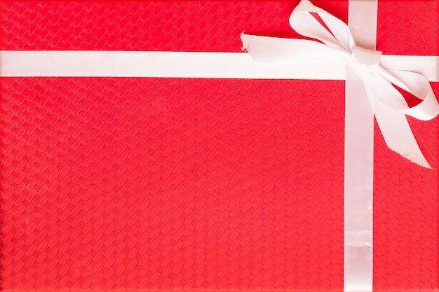 Red gift box with bow