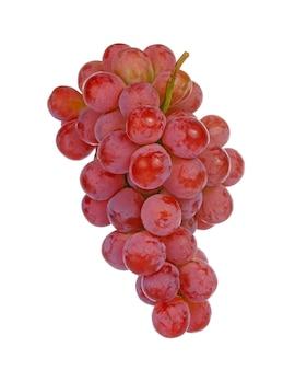 白い背景に分離された赤ブドウ