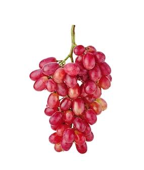 分離された白に分離された赤ブドウ
