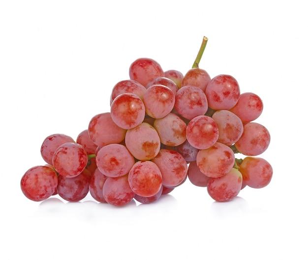 白にドロップする赤ブドウ