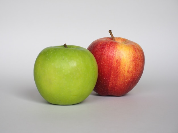 Red and green apple fruit food