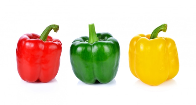 Red green yellow pepper