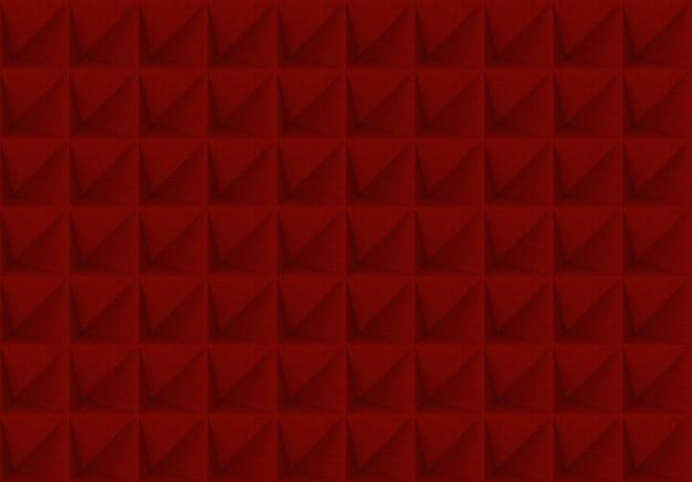 赤い格子の正方形のパターンのタイル壁の背景。