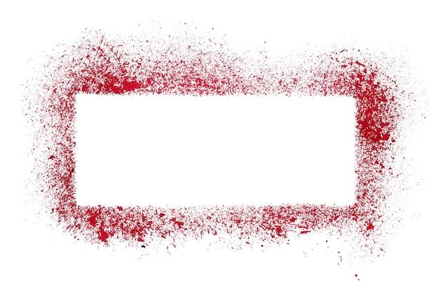 Red grunge stencil frame - raster illustration
