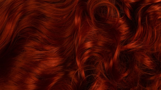 Red hair background. curly red hair. Premium Photo