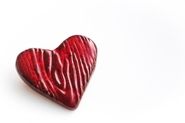Red heart isolated on white background. valentine's day concept