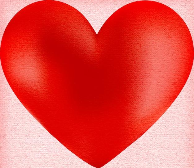 핑크 바탕에 붉은 심장