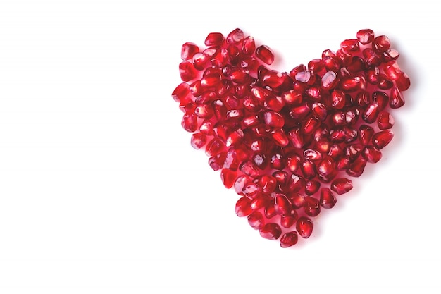 Red heart of pomegranate berries