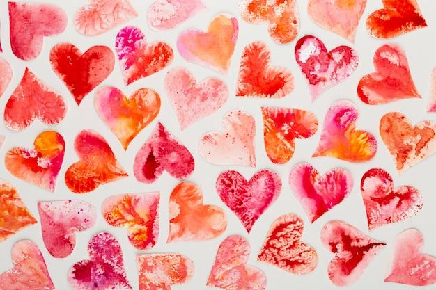 Красное сердце день святого валентина абстрактного фона.