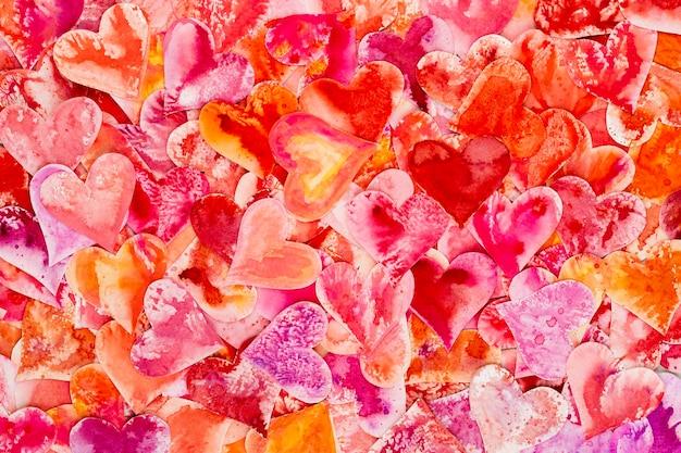 Красное сердце день святого валентина абстрактный фон