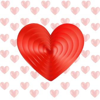붉은 심장 벡터