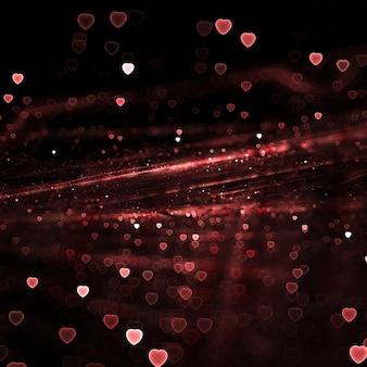 赤の心は壁紙をピンぼけ