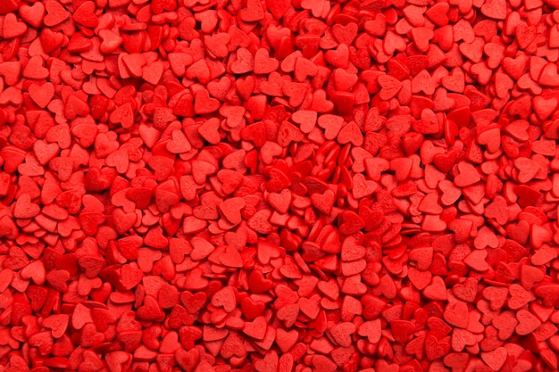 Red hearts. symbol of love