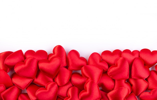 Red hearts with copy space, valentines day background