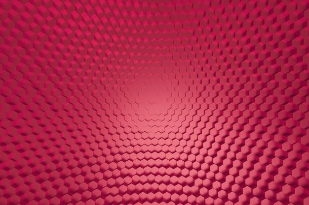 赤い六角形のパターン。