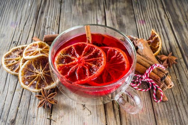 Red hibiscus roiboosh punch