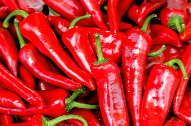Red hot chili pepper healthy food.