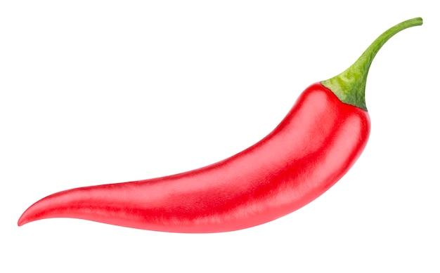 Красный острый перец чили на белом фоне