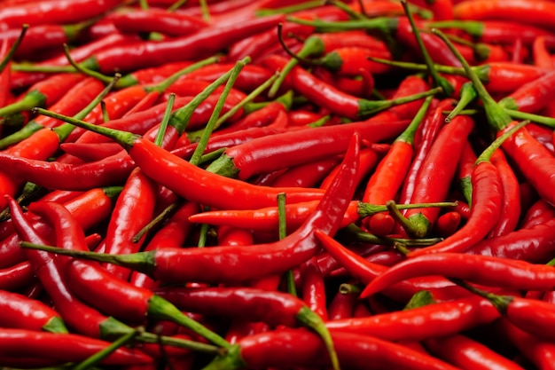 Red hot chilli peppers as a background or texture