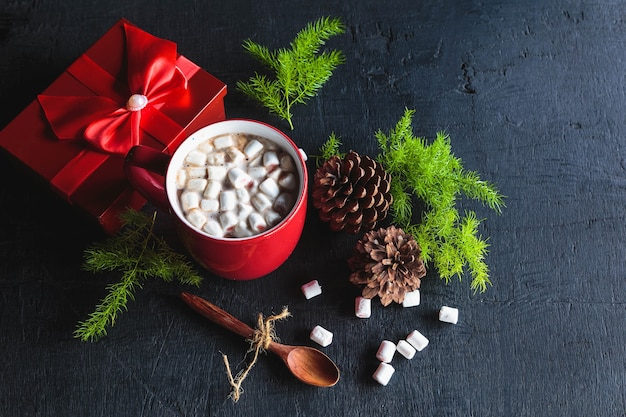 Red hot cocoa cup and gift box