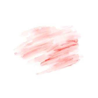 Red ink strokes on white background