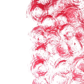 Red ink texture with curls over white background -- raster illustration