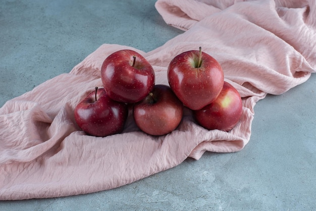 Red juicy apples isolated on the.