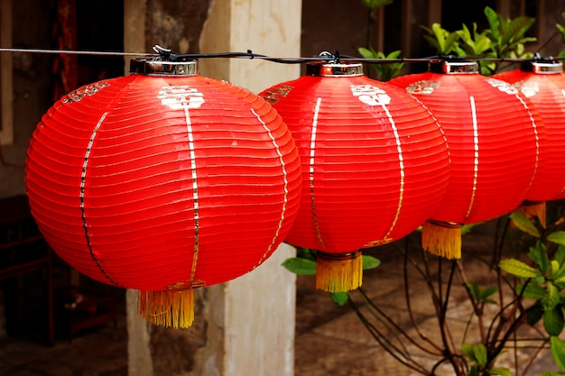 Red lantern in chinese style