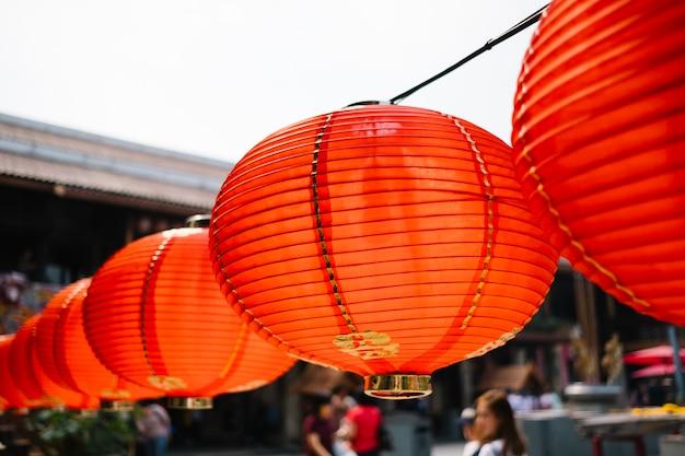 Red lantern hanging