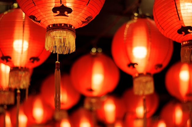 Red lanterns in chinese new festival