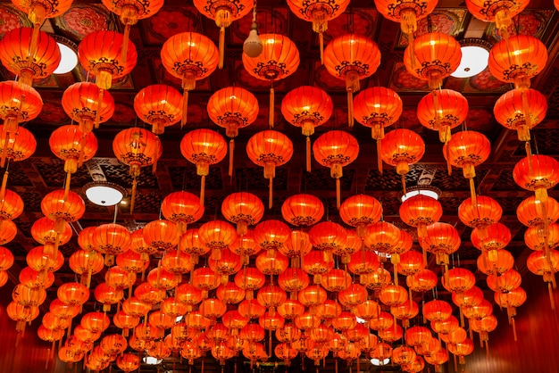 Red lanterns during for chinese new year festival