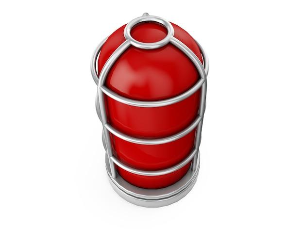 Red light - isolated on white alarm 3d render