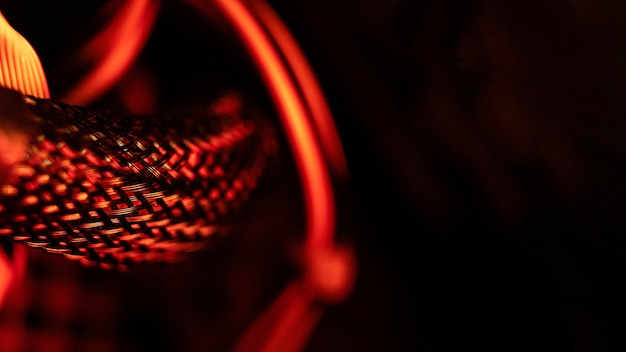 붉은 빛 기술 배경