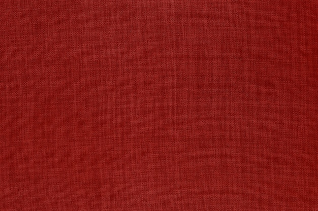Red linen fabric texture background