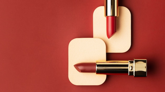 Red lipsticks and background