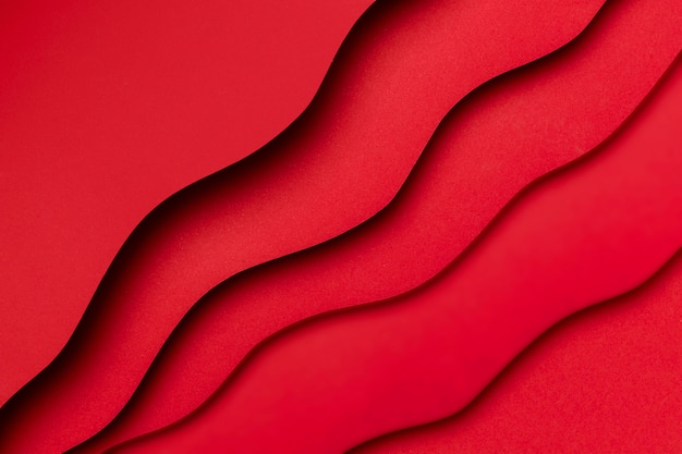 Red liquid effect on layers of paper background