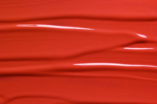 Red liquid lipstick texture