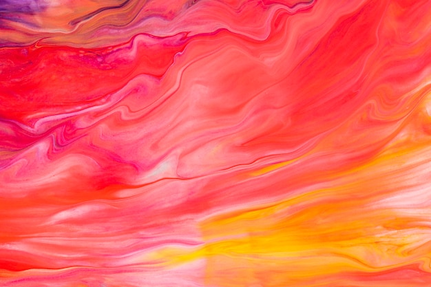 붉은 액체 대리석 배경 diy 미적 흐르는 질감 실험 예술