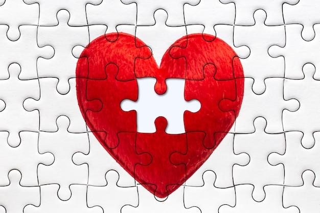 Красная головоломка с сердечком любви в комплекте с концепцией last piece for someone.