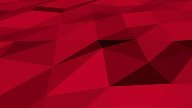 赤の低ポリ抽象的な背景、三角形の幾何学的形状。ビジネスのためのエレガントで豪華なダイナミックスタイル、3dイラスト