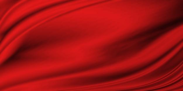 Красная роскошная ткань текстуры фона