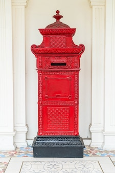 Red mail letter box